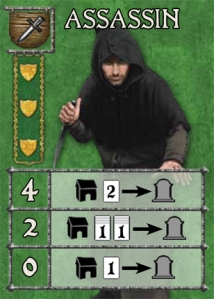 So, if you play this card when you already have four Assassins on the table, you get to kill off two cards from one opposing Chapter. Simple!