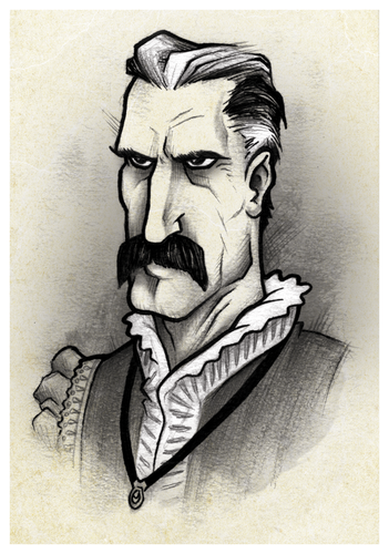 The concept art for Lord Montague's card. Nice!