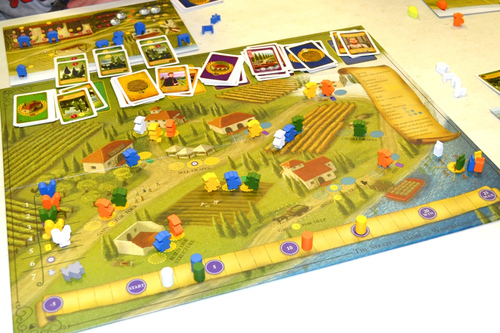 Viticulture in play, as captured by kilroy locke of BGG!